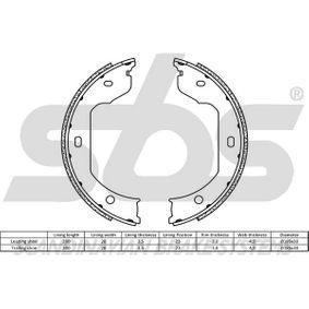 Bremsbacken für Handbremse 18492715695 sbs