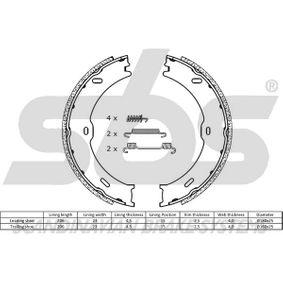 Bremsbacken für Handbremse 18492733782 sbs