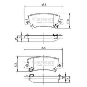 NIPPARTS Bremsbelagsatz, Scheibenbremse (J3612025) niedriger Preis