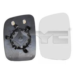 TYC 337-0148-1 Spiegelglas, Außenspiegel OEM - 7H1857521N SEAT, SKODA, VW, VAG günstig