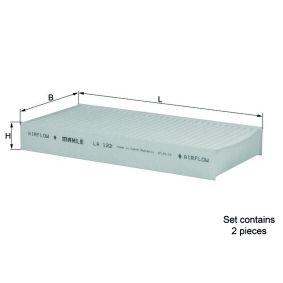 MAHLE ORIGINAL Filtro de aire acondicionado LA 122/S