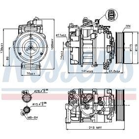 Kompressor, Klimaanlage Prefilled PAG-OIL von hersteller NISSENS 89210 bis zu - 70% Rabatt!