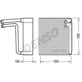 DENSO Evaporator air conditioning DEV09025