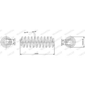 MONROE Fahrwerksfeder 1K0411105EJ für VW bestellen