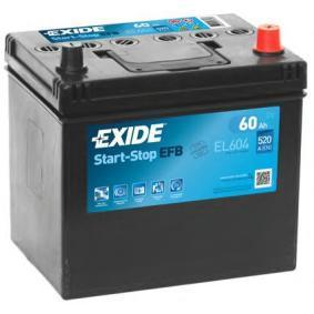 Starterbatterie EXIDE Art.No - EL604 OEM: PE1T18520 für MAZDA kaufen