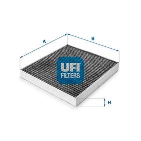 UFI 54.219.00 Filter, Innenraumluft OEM - 5Q0819653 AUDI, MAN, SEAT, SKODA, VW, VAG, FIAT / LANCIA, JOHNS, AUDI (FAW), SKODA (SVW), CUPRA, STARK, RIDEX günstig