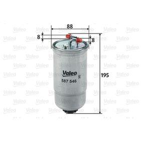 VALEO Filtro de combustible 587546