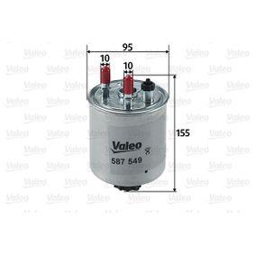 Kraftstofffilter VALEO Art.No - 587549 OEM: 164003978R für RENAULT, DACIA, RENAULT TRUCKS kaufen