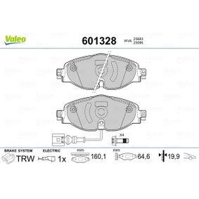 Kit de plaquettes de frein, frein à disque VALEO Art.No - 601328 OEM: 5Q0698151A pour VOLKSWAGEN, AUDI, SEAT, SKODA récuperer