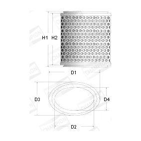 CHAMPION Filtro aria motore V419/606