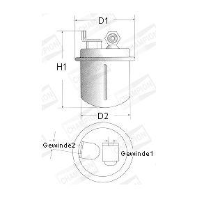 CHAMPION Filtro de combustible L229/606