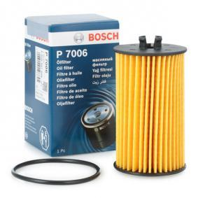 F 026 407 006 Filtro de aceite BOSCH para CHEVROLET AVEO 1.4 101 CV a un precio bajo