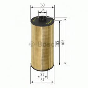 BOSCH Oljefilter Filterinsats 4047024198920 rating