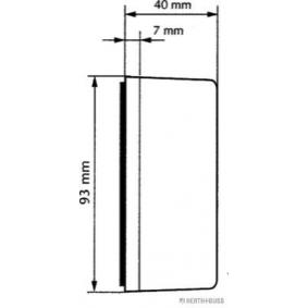 82710054 Outline Lamp from HERTH+BUSS ELPARTS quality parts
