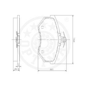 AUDI 90 (89, 89Q, 8A, B3) OPTIMAL Waschwasserdüse 9271 bestellen