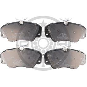 Bremsbelagsatz, Scheibenbremse OPTIMAL Art.No - 9756 OEM: 1605004 für OPEL, CHEVROLET, SAAB, CADILLAC, VAUXHALL kaufen