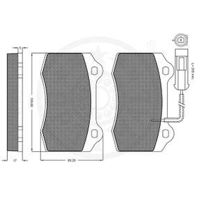OPTIMAL Bremsbelagsatz, Scheibenbremse 5892740 für FORD, FIAT, ALFA ROMEO, CHRYSLER, LANCIA bestellen