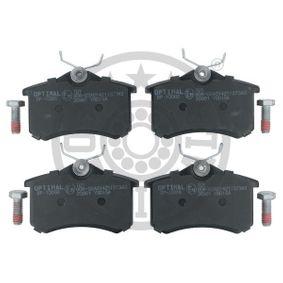 Bromsbeläggssats, skivbroms OPTIMAL Art.No - 10066 OEM: JZW698451 för VW, AUDI, FORD, SKODA, SEAT köp