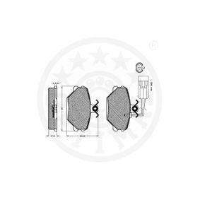 Bremseklodser OPTIMAL Art.No - 10094 OEM: 1E0698451 til VW, FORD, AUDI, SKODA, SEAT erhverv