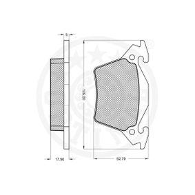 A0004214210 für MERCEDES-BENZ, Bremsbelagsatz, Scheibenbremse OPTIMAL (10355) Online-Shop