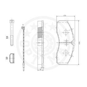 5001844748 für VW, RENAULT, NISSAN, IVECO, MAN, Bremsbelagsatz, Scheibenbremse OPTIMAL (12026) Online-Shop