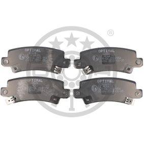 Bremsbelagsatz, Scheibenbremse OPTIMAL Art.No - 12121 OEM: 0446602040 für TOYOTA, LEXUS, WIESMANN kaufen