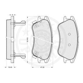 OPTIMAL Bremsbelagsatz, Scheibenbremse JZW698451D für VW, AUDI, SKODA, SEAT bestellen
