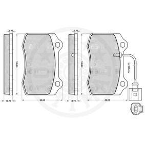 1ML698151 für VW, AUDI, SKODA, SEAT, Bremsbelagsatz, Scheibenbremse OPTIMAL (12212) Online-Shop