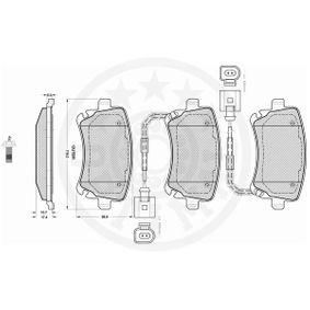3D0698451 für VW, AUDI, SKODA, SEAT, Bremsbelagsatz, Scheibenbremse OPTIMAL (12240) Online-Shop