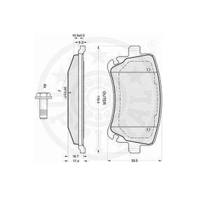 4F0698451C für VW, AUDI, SKODA, SEAT, Bremsbelagsatz, Scheibenbremse OPTIMAL (12242) Online-Shop