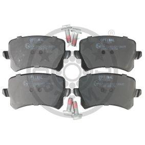 Bremsbelagsatz, Scheibenbremse OPTIMAL Art.No - 12334 OEM: 5N0698451 für VW, AUDI, SKODA, SEAT, PORSCHE kaufen