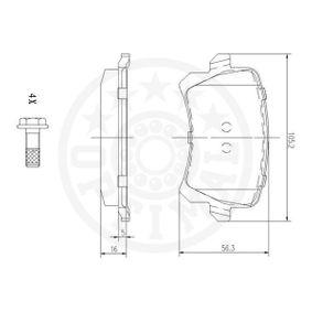 5N0698451 für VW, AUDI, SKODA, SEAT, PORSCHE, Bremsbelagsatz, Scheibenbremse OPTIMAL (12334) Online-Shop