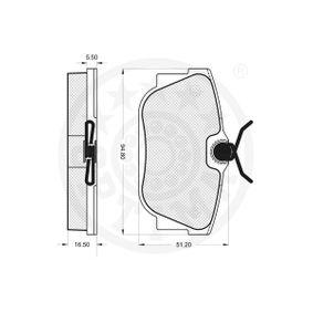 Bremsbelagsatz, Scheibenbremse OPTIMAL Art.No - 12384 OEM: 34116797859 für BMW kaufen