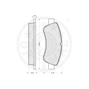 1613192280 for PEUGEOT, CITROЁN, DS, PIAGGIO, Brake Pad Set, disc brake OPTIMAL (84010) Online Shop