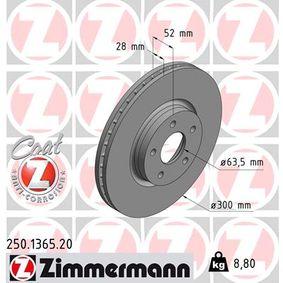 ZIMMERMANN Bremsscheibe (250.1365.20) niedriger Preis