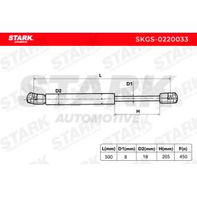 STARK Heckklappendämpfer / Gasfeder 1M6827550 für VW, AUDI, SKODA, SEAT bestellen