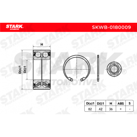 STARK SKWB-0180009 Radlagersatz OEM - 1606623580 CITROËN, PEUGEOT, CITROËN/PEUGEOT, GLASER, NK, A.B.S., CITROËN (DF-PSA), FISPA, OEMparts, PEUGEOT (DF-PSA), DS günstig