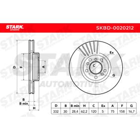 Bremsscheiben (SKBD-0020212) hertseller STARK für BMW X5 (E53) ab Baujahr 12.2003, 218 PS Online-Shop