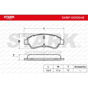 1613192280 for PEUGEOT, CITROЁN, DS, PIAGGIO, Brake Pad Set, disc brake STARK (SKBP-0010048) Online Shop