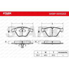 34112288858 für BMW, Bremsbelagsatz, Scheibenbremse STARK (SKBP-0010253) Online-Shop
