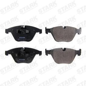 STARK SKBP-0010253 Bremsbelagsatz, Scheibenbremse OEM - 34112288858 BMW, BILSTEIN, BORG & BECK, BMW (BRILLIANCE) günstig
