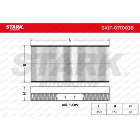 STARK SKIF-0170038 Filter, Innenraumluft OEM - 1062253 FORD, OM, OPEL, BOSCH, FRAM, GENERAL MOTORS, GEO, JOHNS günstig