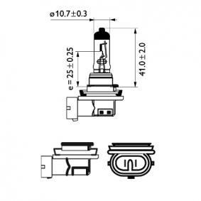 12362PRC1 Glühlampe, Fernscheinwerfer von PHILIPS Qualitäts Ersatzteile