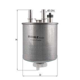 Kraftstofffilter MAHLE ORIGINAL (KL 834) für RENAULT TWINGO Preise