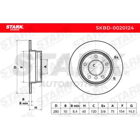 1 Schrägheck (E87) STARK Bremsscheiben SKBD-0020124