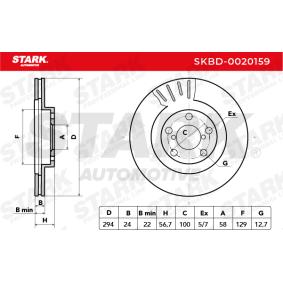 STARK SUBARU IMPREZA Bremsscheiben (SKBD-0020159)