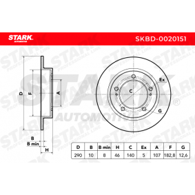 STARK SUZUKI SAMURAI Discos de freno (SKBD-0020151)