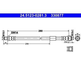 ATE Bremsschlauch (24.5123-0281.3) niedriger Preis