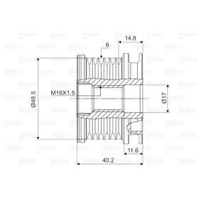 VALEO Generatorfreilauf 588016