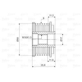 VALEO Generatorfreilauf 588019